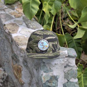 6 Panel Pelican Hat Tiger Camo