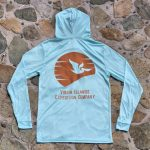 Expedition Surf Shirt Hoodie Blue Back